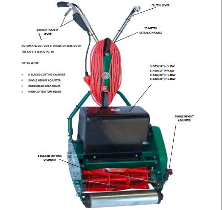 SI Domestic Electric Cylinder mower